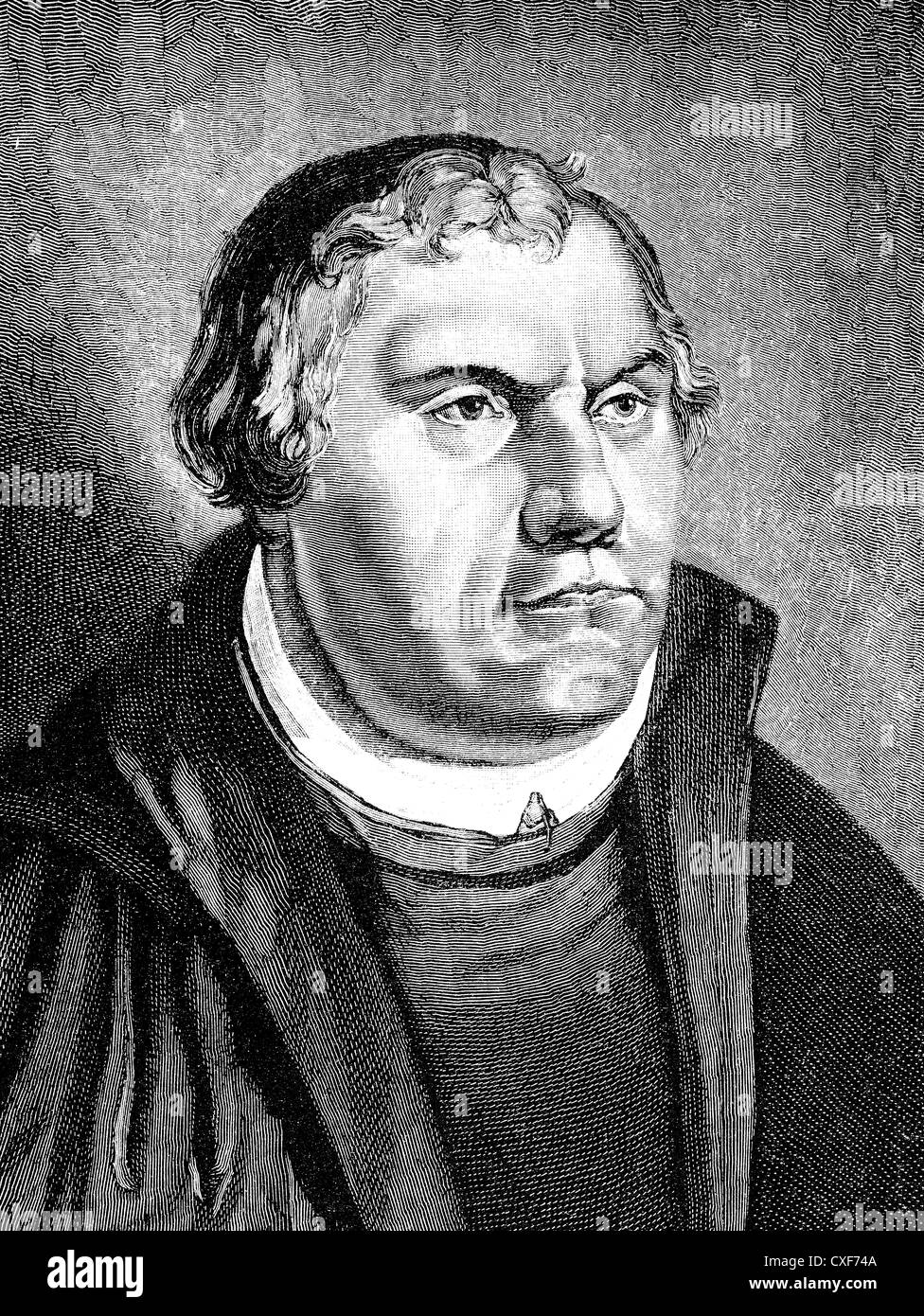 Martin Luther, 1483 - 1546, theologian and reformer, - Stock Image