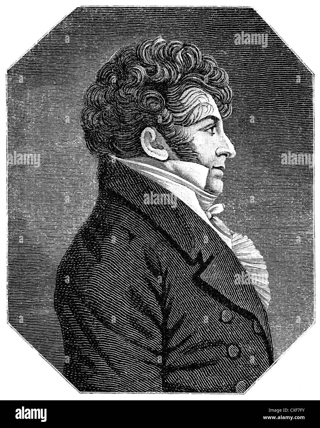 François-Adrien Boieldieu, 1775-1834, French opera composer, - Stock Image
