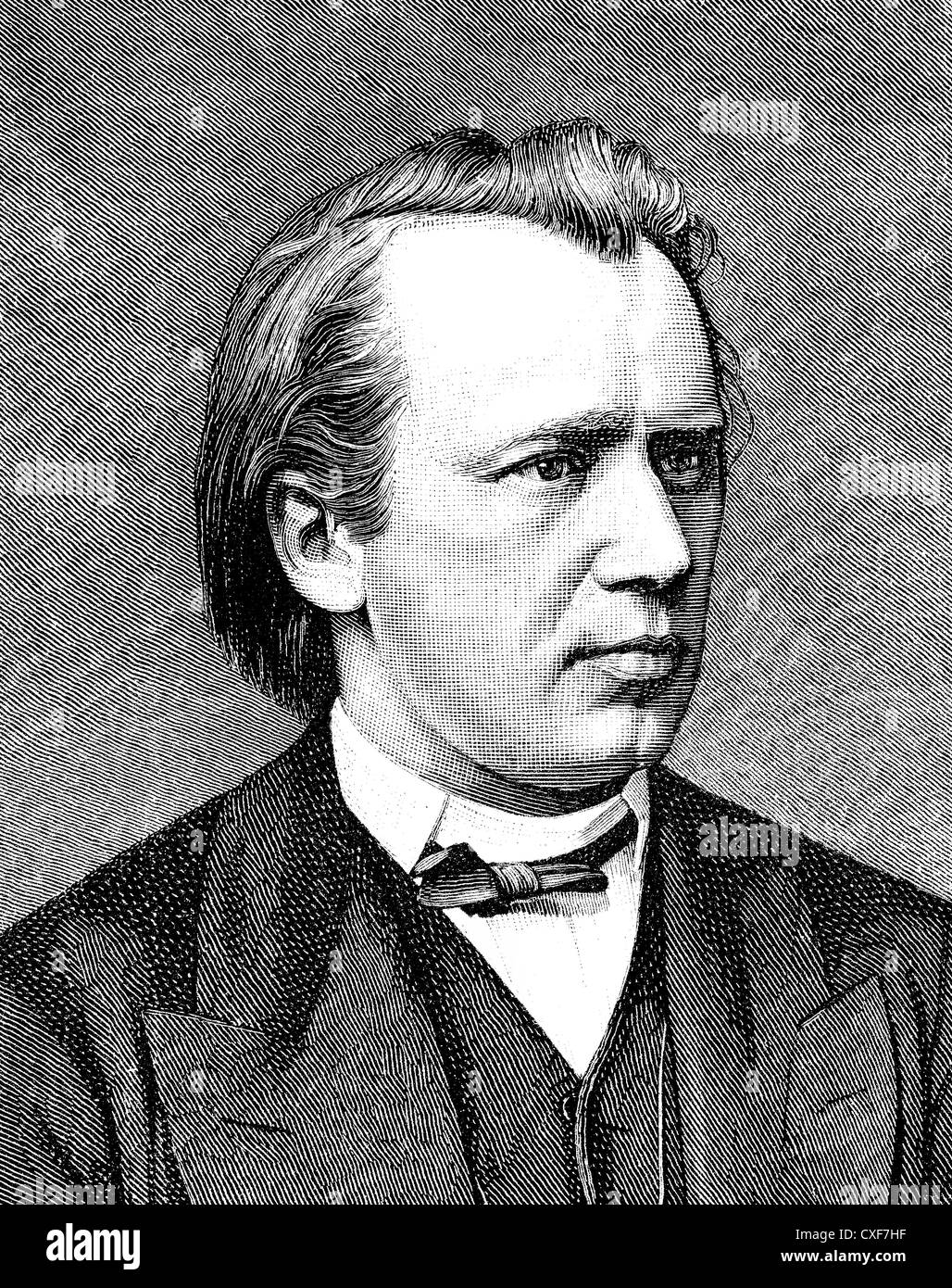 Johannes Brahms, 1833-1897, German composer, pianist and conductor of Romanticism, - Stock Image