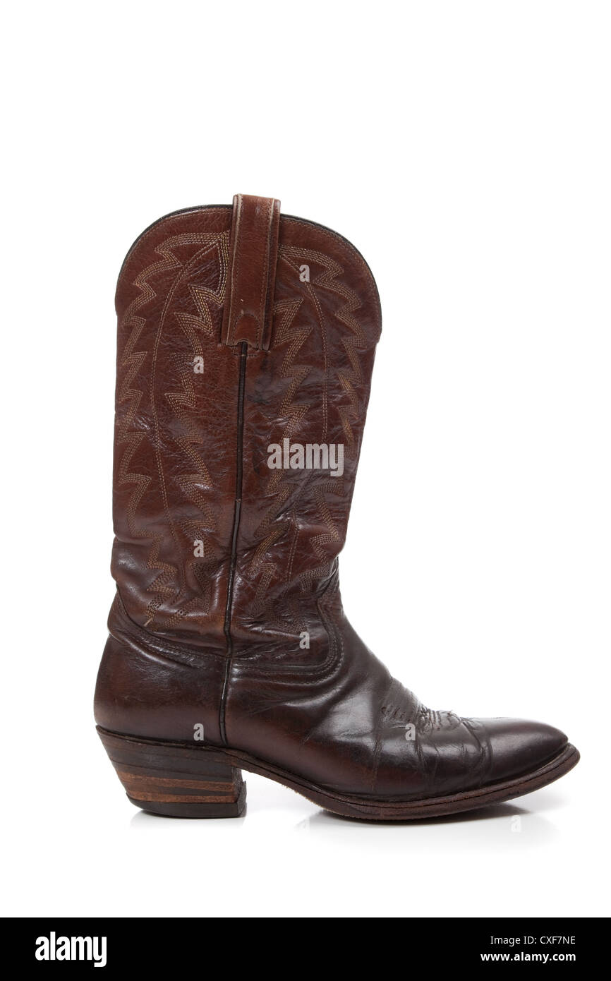 8680059bf33 Brown Leather Cowboy Boots Stock Photos & Brown Leather Cowboy Boots ...