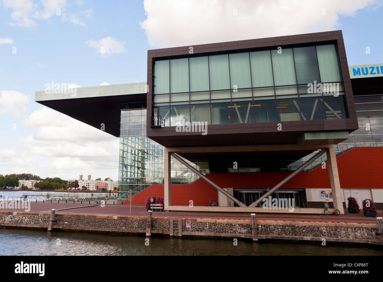 Amsterdam: Muziekgebouw Aan 't Ij/ Bimhuis (Concert hall) - Amsterdam, Netherlands, Europe - Stock Image