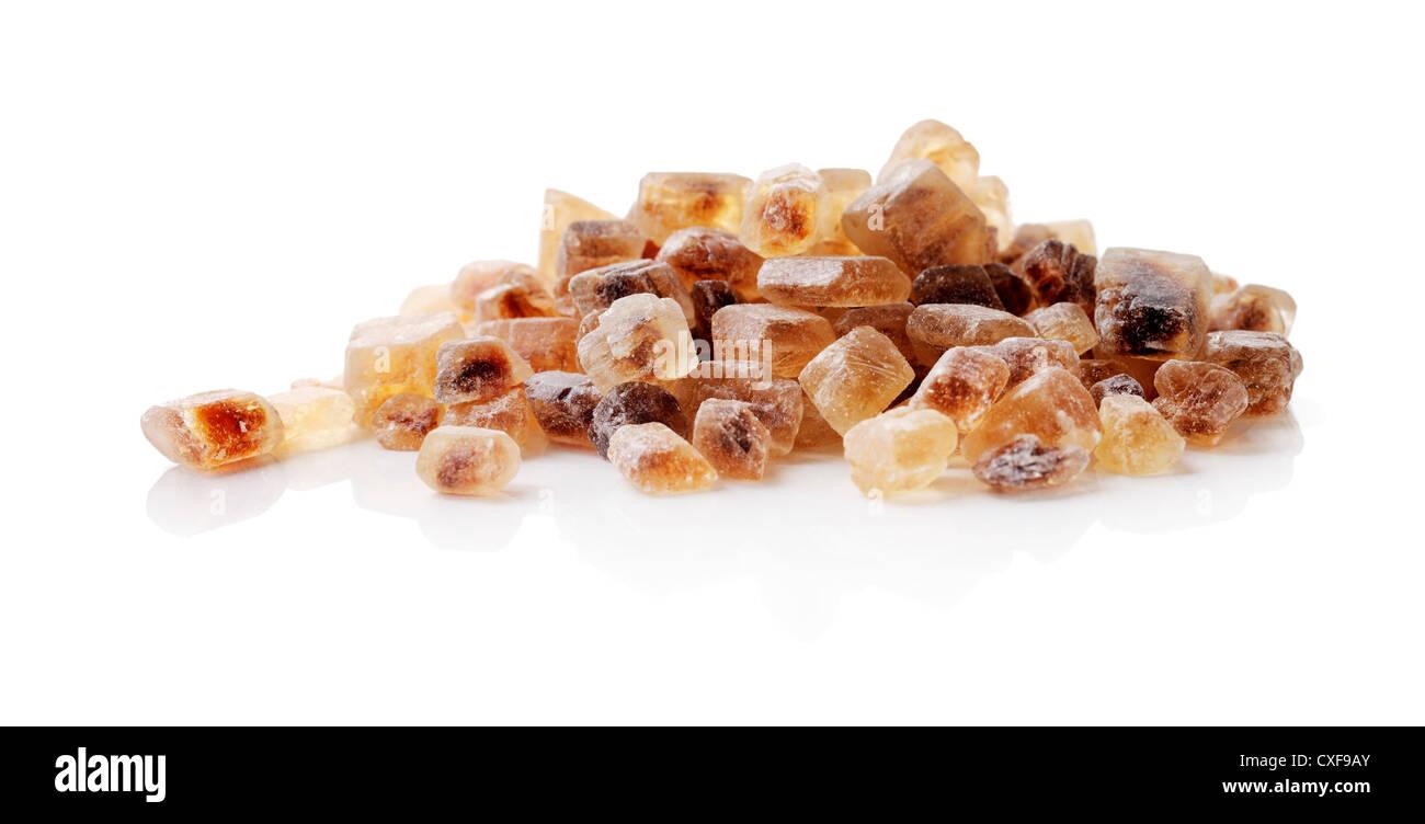Chrystals of Candi Sugar / Rock Sugar. Stock Photo