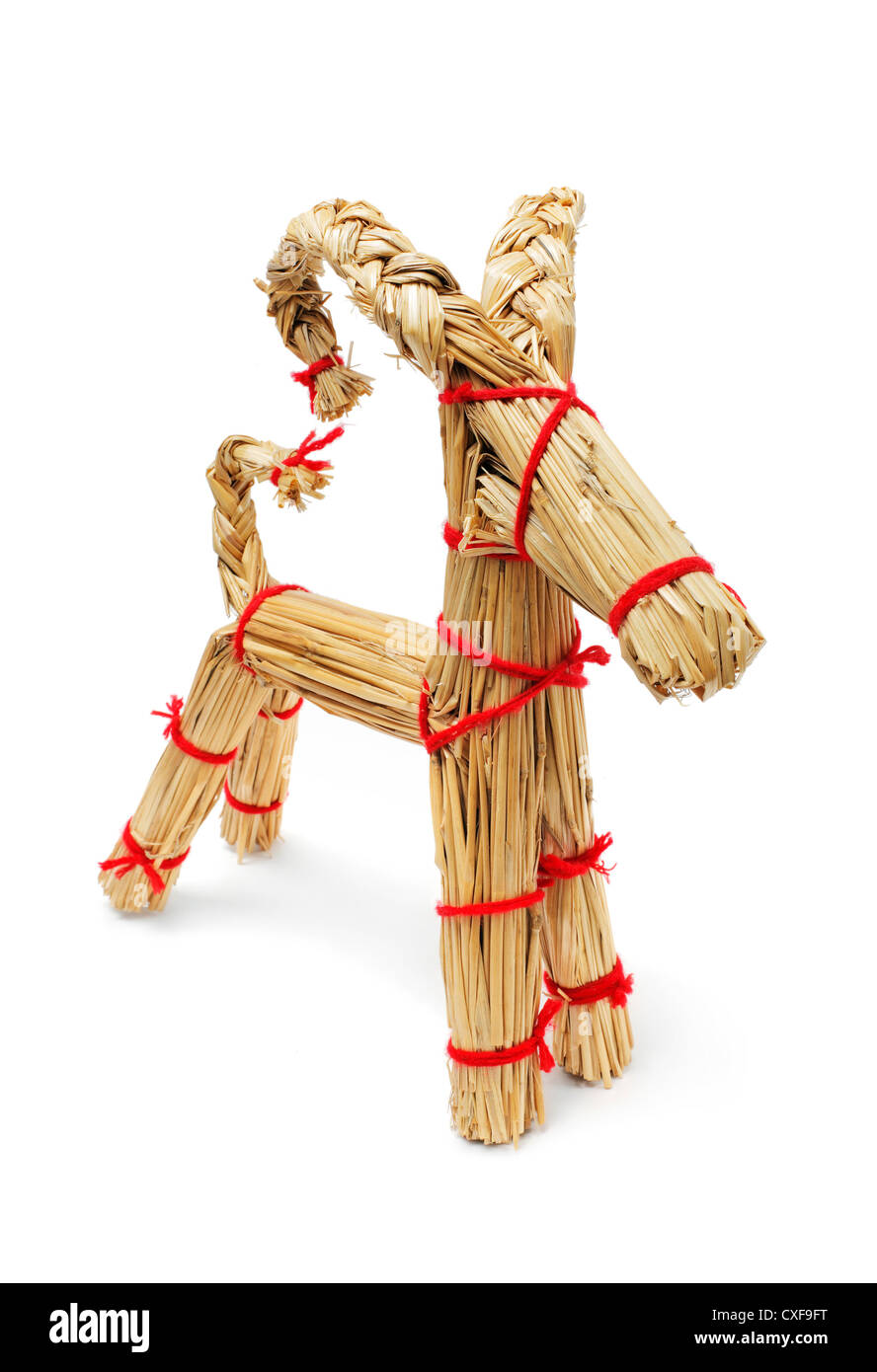 Finland Christmas Goat.Traditional Finnish Christmas Decoration Straw Billy Goat