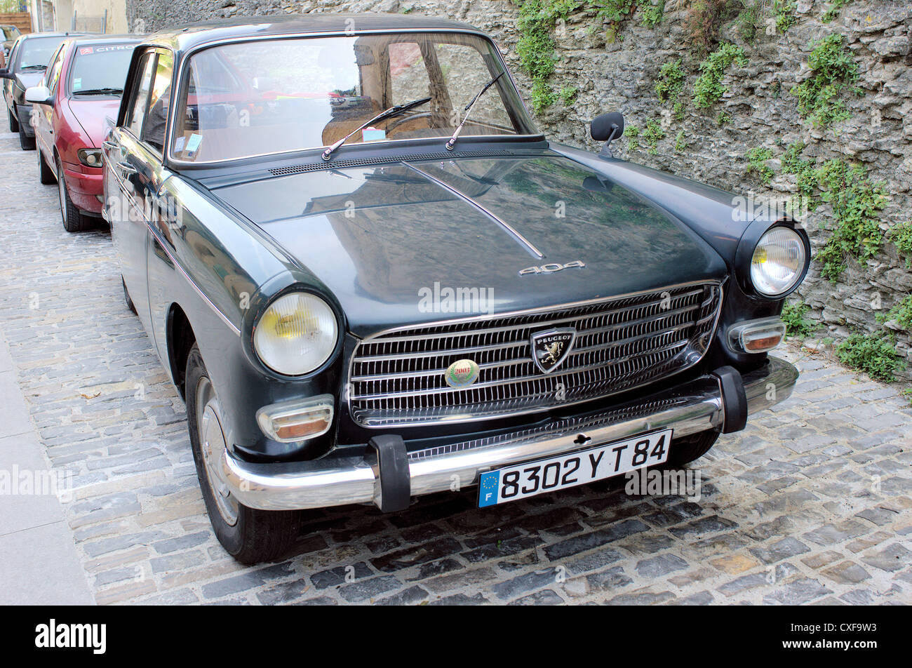 Vintage Black Peugeot 404 Stock Photo Alamy