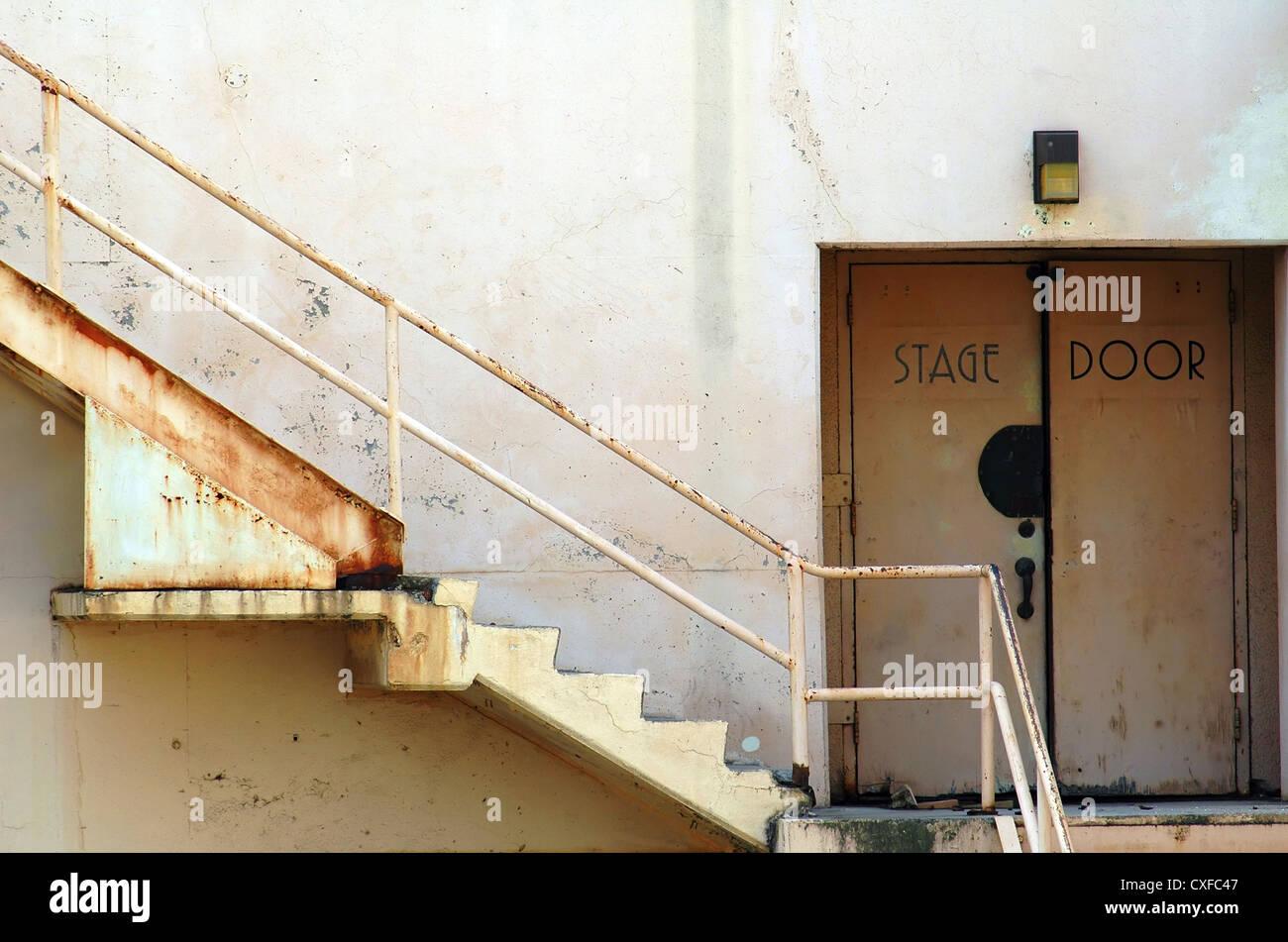 Stage Door, Ambassador Hotel Los Angeles Stock Photo