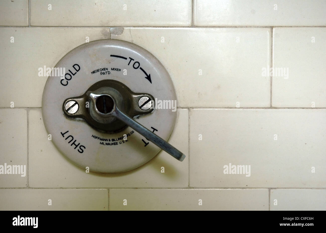 Vintage Shower Fixture Stock Photo