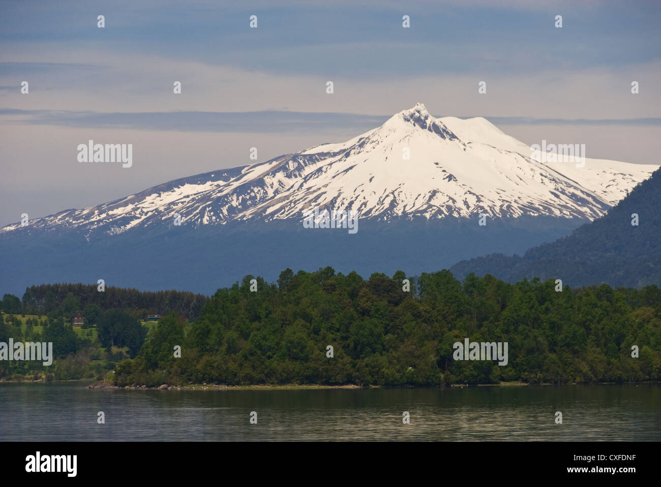 Elk198-3231 Chile, Panguipulli, Volcan Chosuenco - Stock Image
