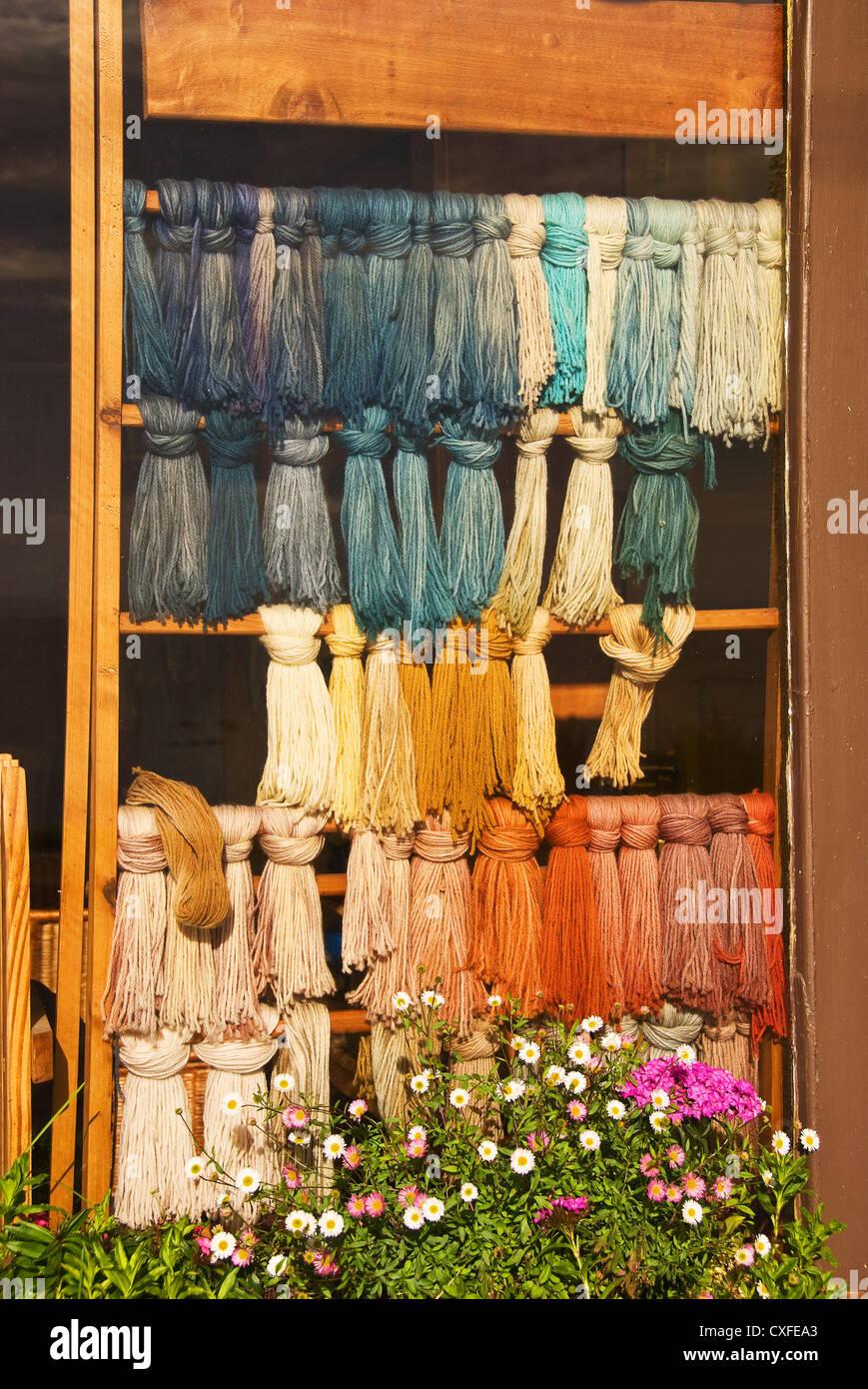 Elk198-3374v Chile, Fruitillar, handicraft, yarn - Stock Image