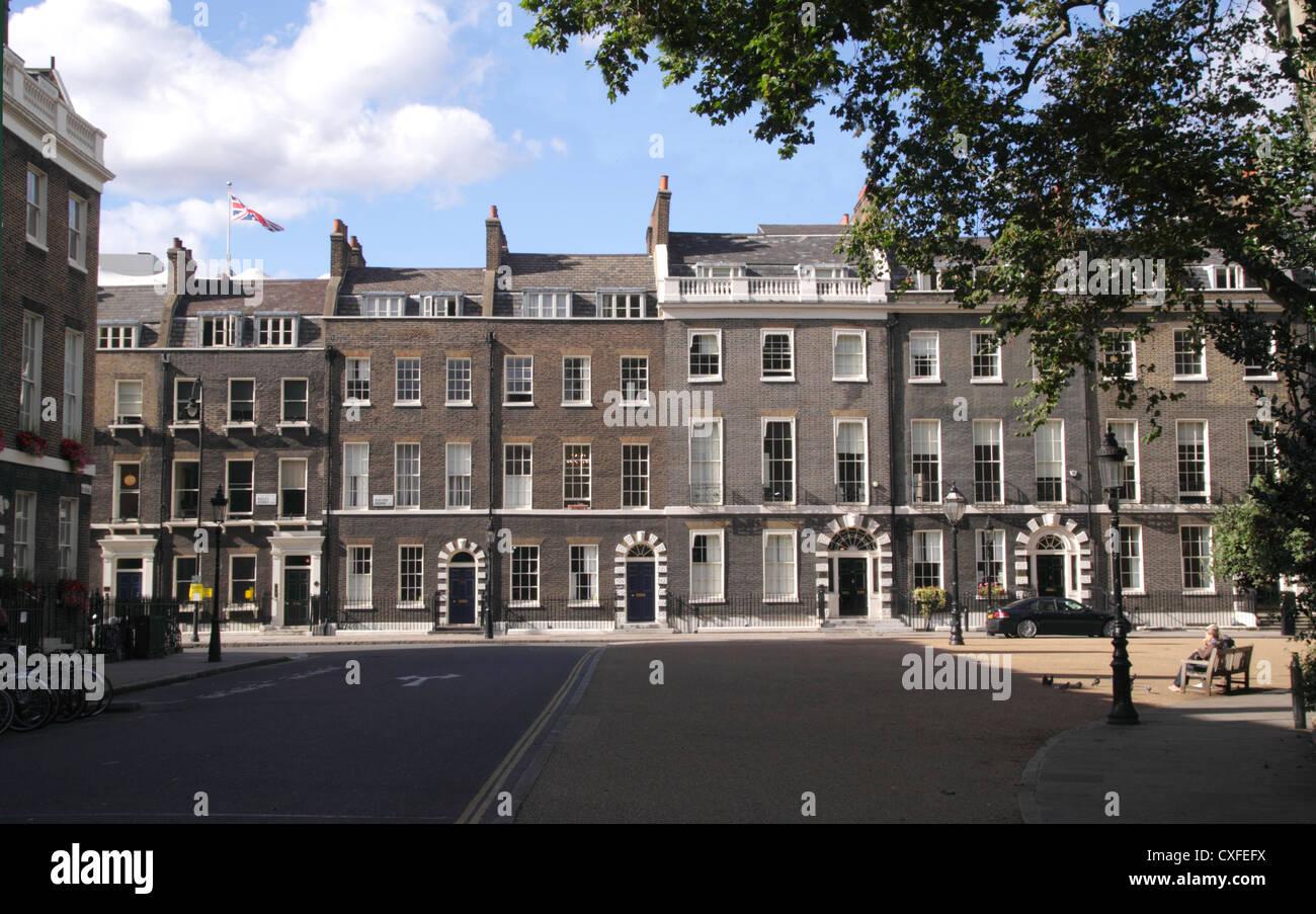Bedford Square Bloomsbury London - Stock Image
