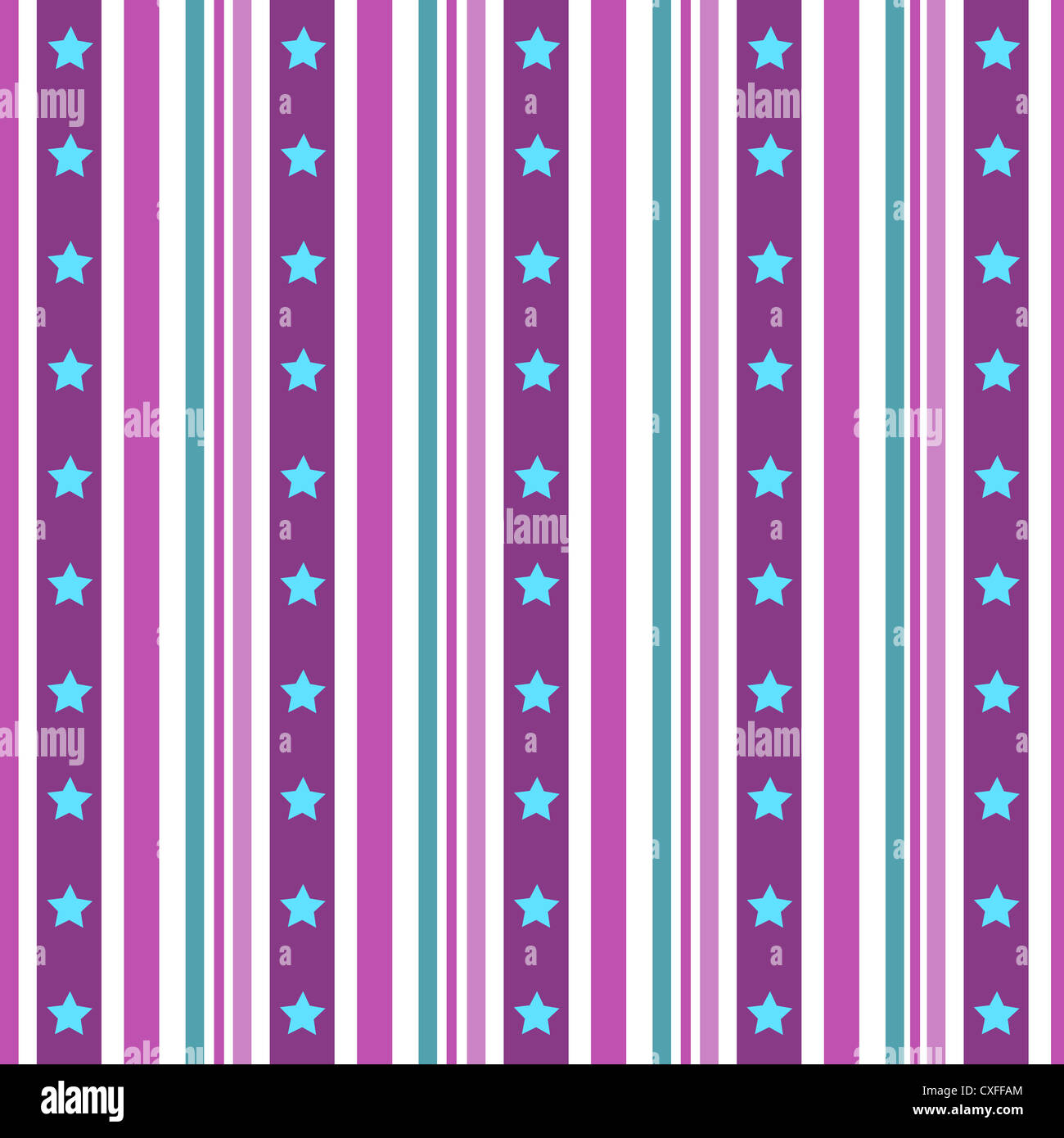 Stars and stripes pattern in purple and blue Stock Photo