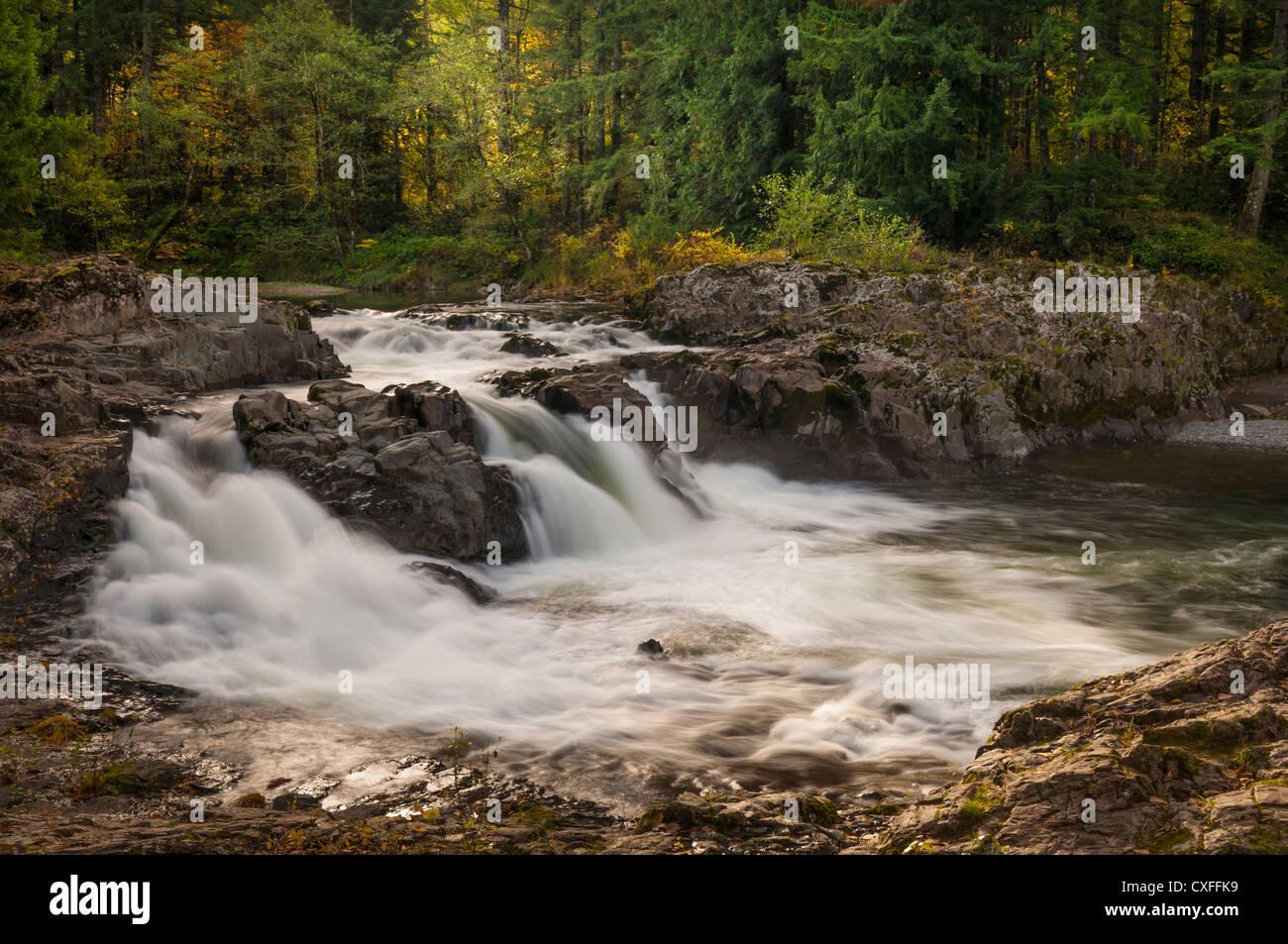 Lucia Falls, East Fork Lewis River, Clark County, Washington. - Stock Image