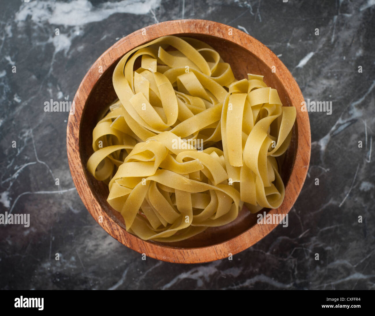 shows a type of dried pasta - Stock Image