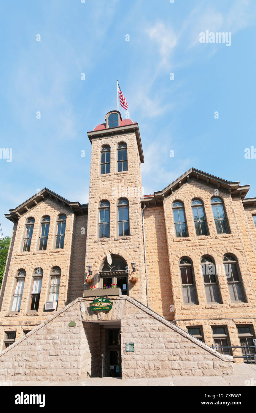Arkansas, Eureka Springs, Carroll County Courthouse built