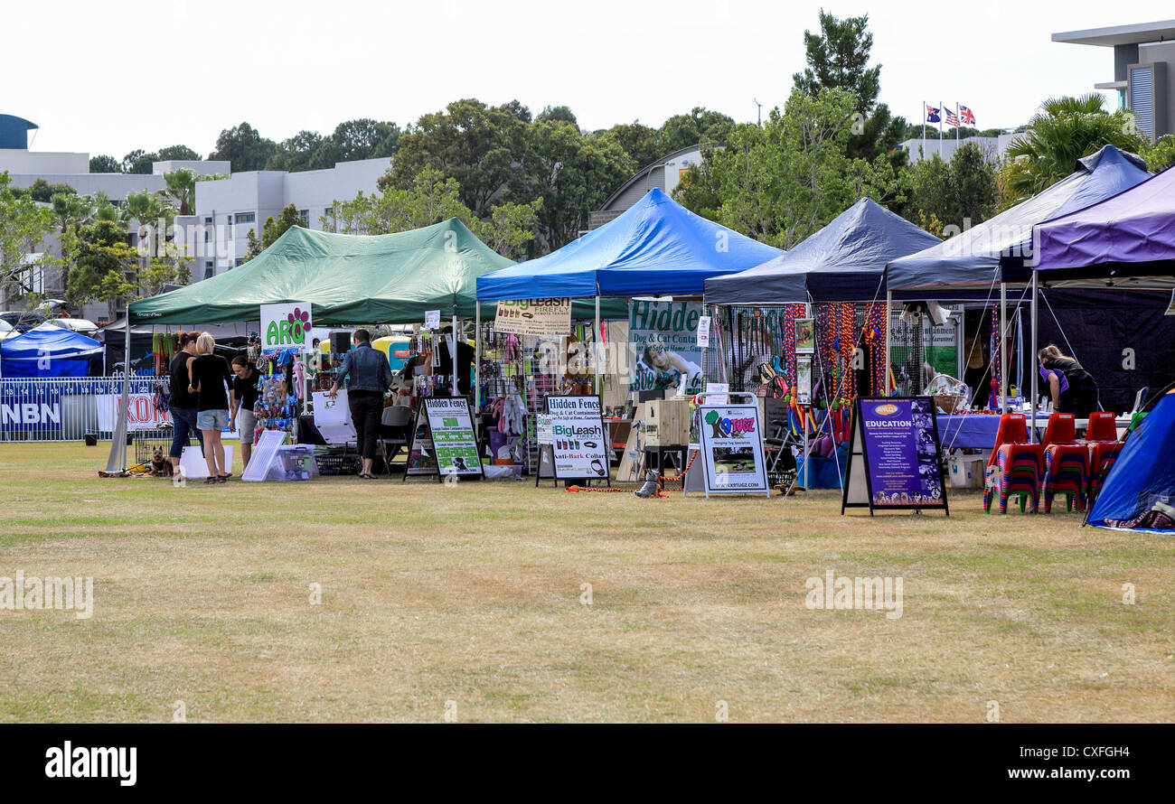 Vendors set up at The tenth annual Gold Coast Pet and Animal