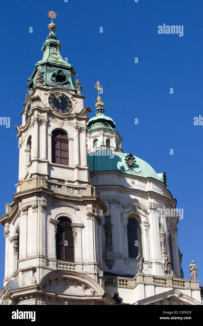 St. Nicholas Church Old Town Square Old Town Prague 1 Czech Republic Kostel svatého Mikuláše Stock Photo