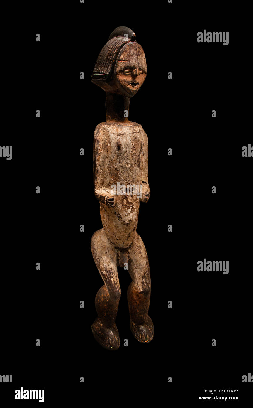 Reliquary Standing Male Figure 19th century Gabon or Republic of Congo Kota peoples Mbete group 82.6 cm Africa - Stock Image