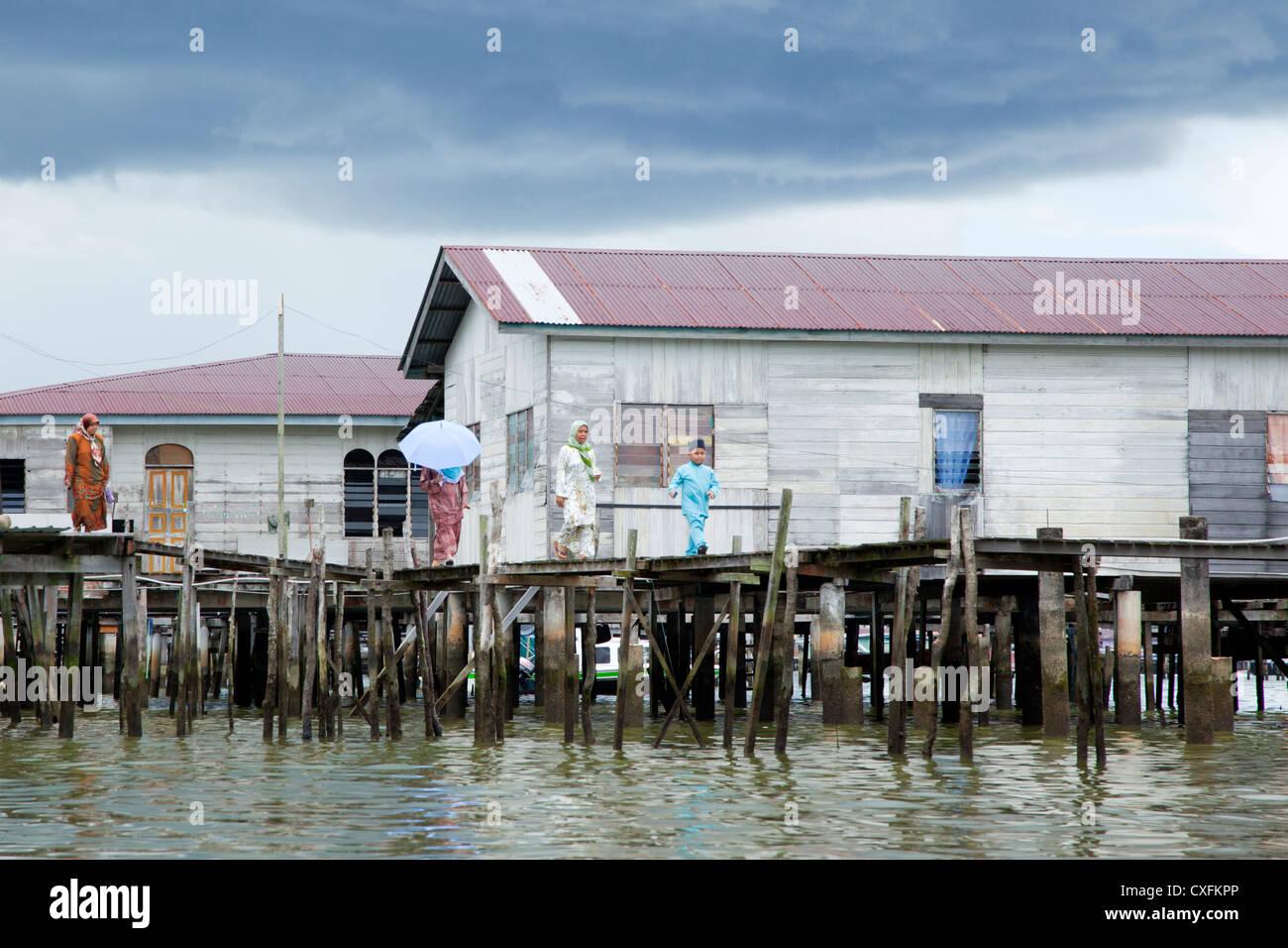 Kampong Ayer, Bandar Seri Begawan, Brunei - Stock Image