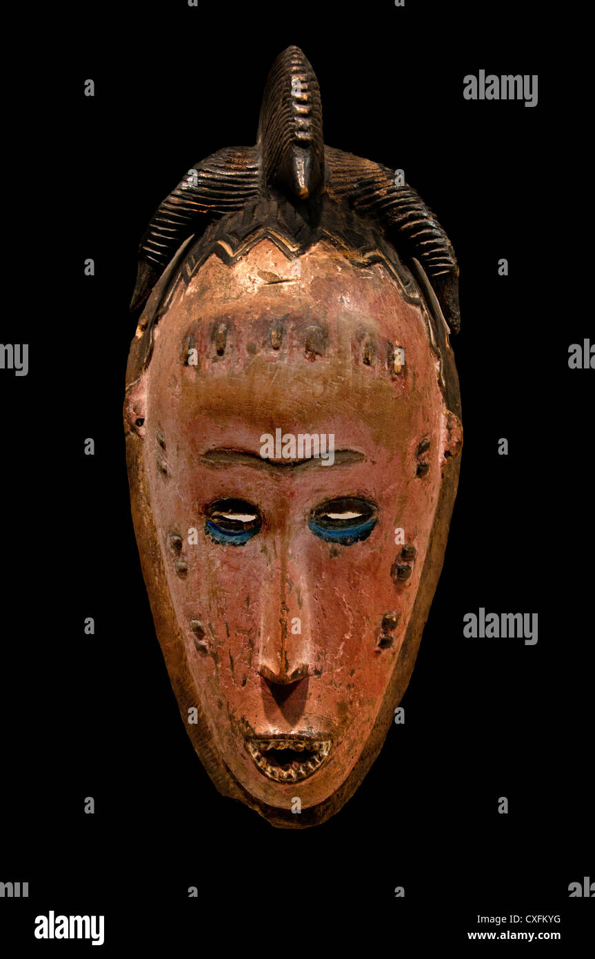 Mask 19th–20th century Côte d'Ivoire Guro  peoples Africa - Stock Image