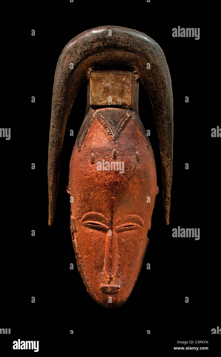 Mask  19th–20th century Côte d'Ivoire Guro Zuenola style  peoples Africa - Stock Image
