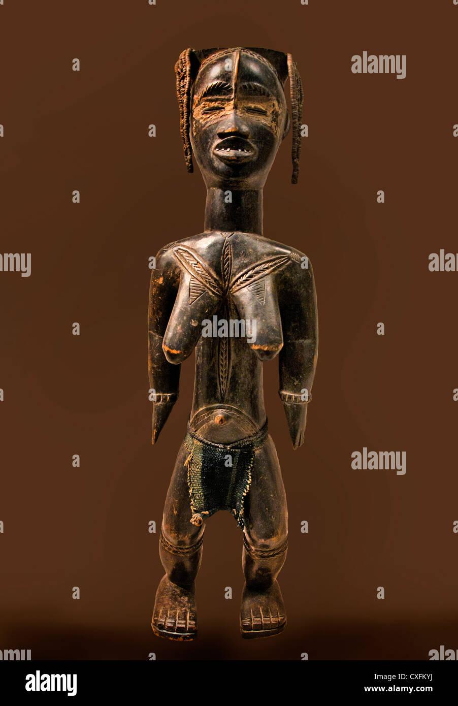Female Figure Zlan of Belewale  before 1940  Liberia or Côte d'Ivoire Dan peoples 58.4 x 14 cm Africa - Stock Image