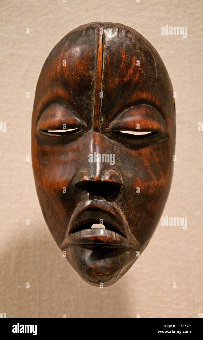 Mask 19th–20th century Côte d'Ivoire or Liberia Dan peoples Africa - Stock Image