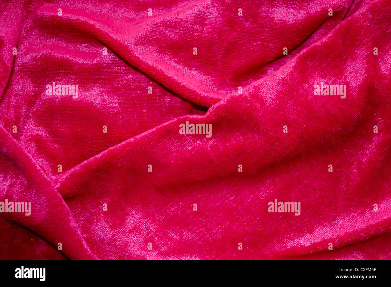Background of red cloth pleated - Stock Image