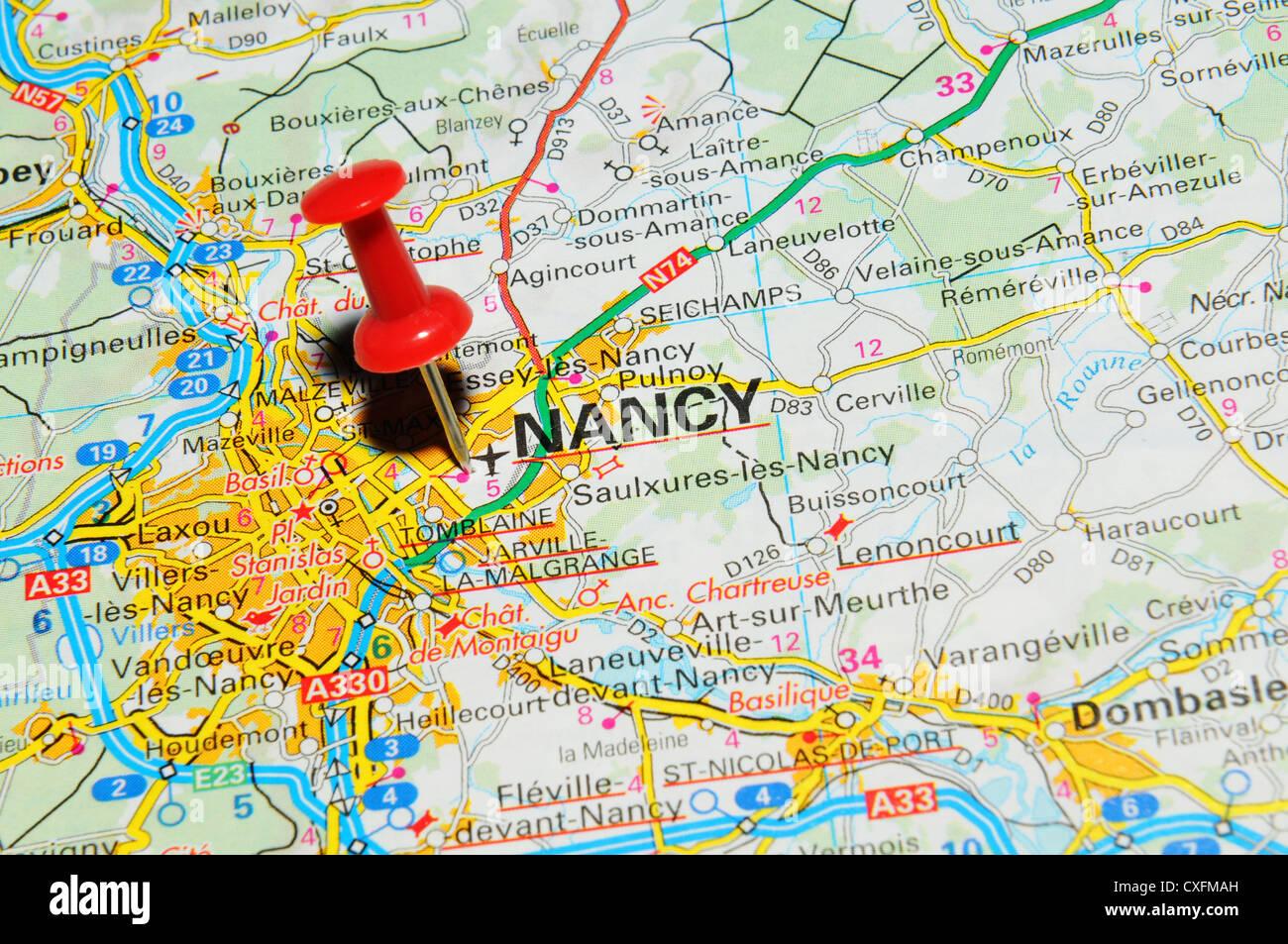 Map Of France Nancy.Nancy France On Map Stock Photo 50747049 Alamy