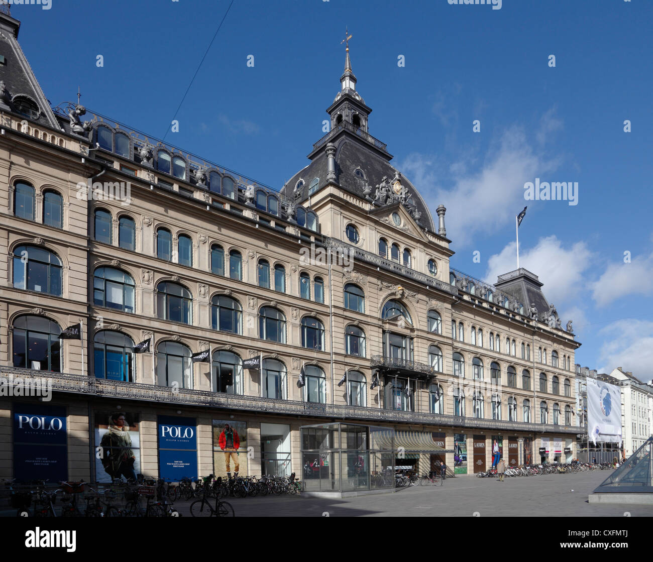 The old historic and well-known department store Magasin du Nord (main department) at Kongens Nytorv in Copenhagen, - Stock Image