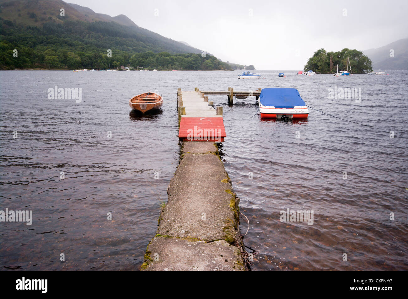 Loch Earn Seen From St Fillans Perth and Kinross Scotland - Stock Image