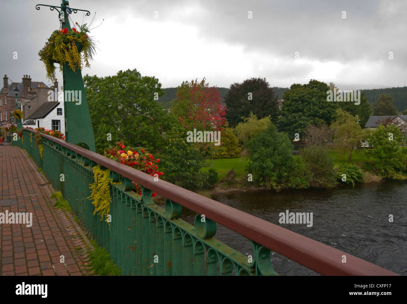 Dalginross Bridge Over The River Earn Comrie Perth and Kinross Scotland - Stock Image