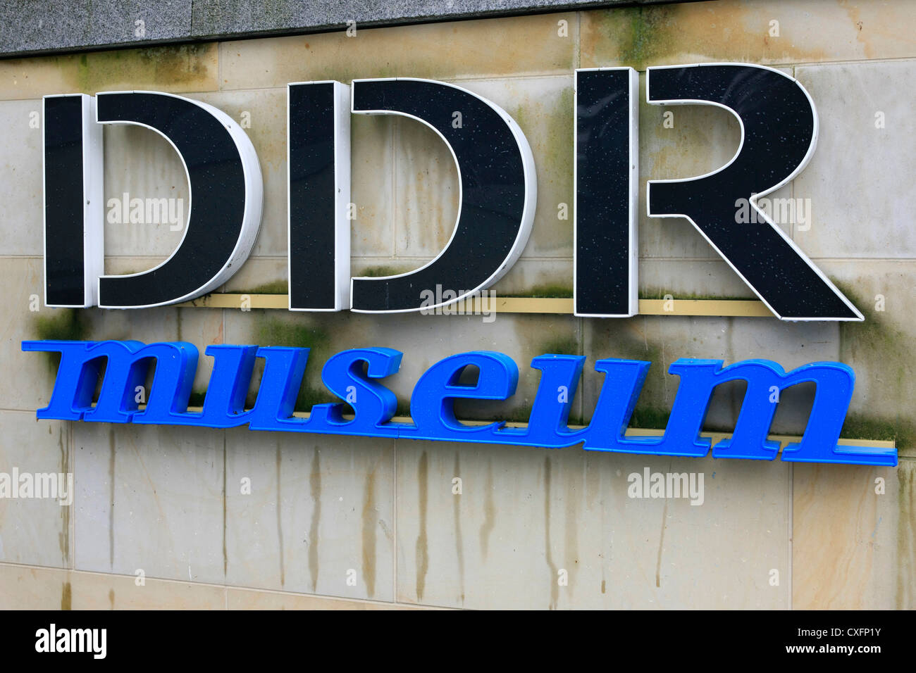 Logo for the DDR Museum in Berlin - Stock Image