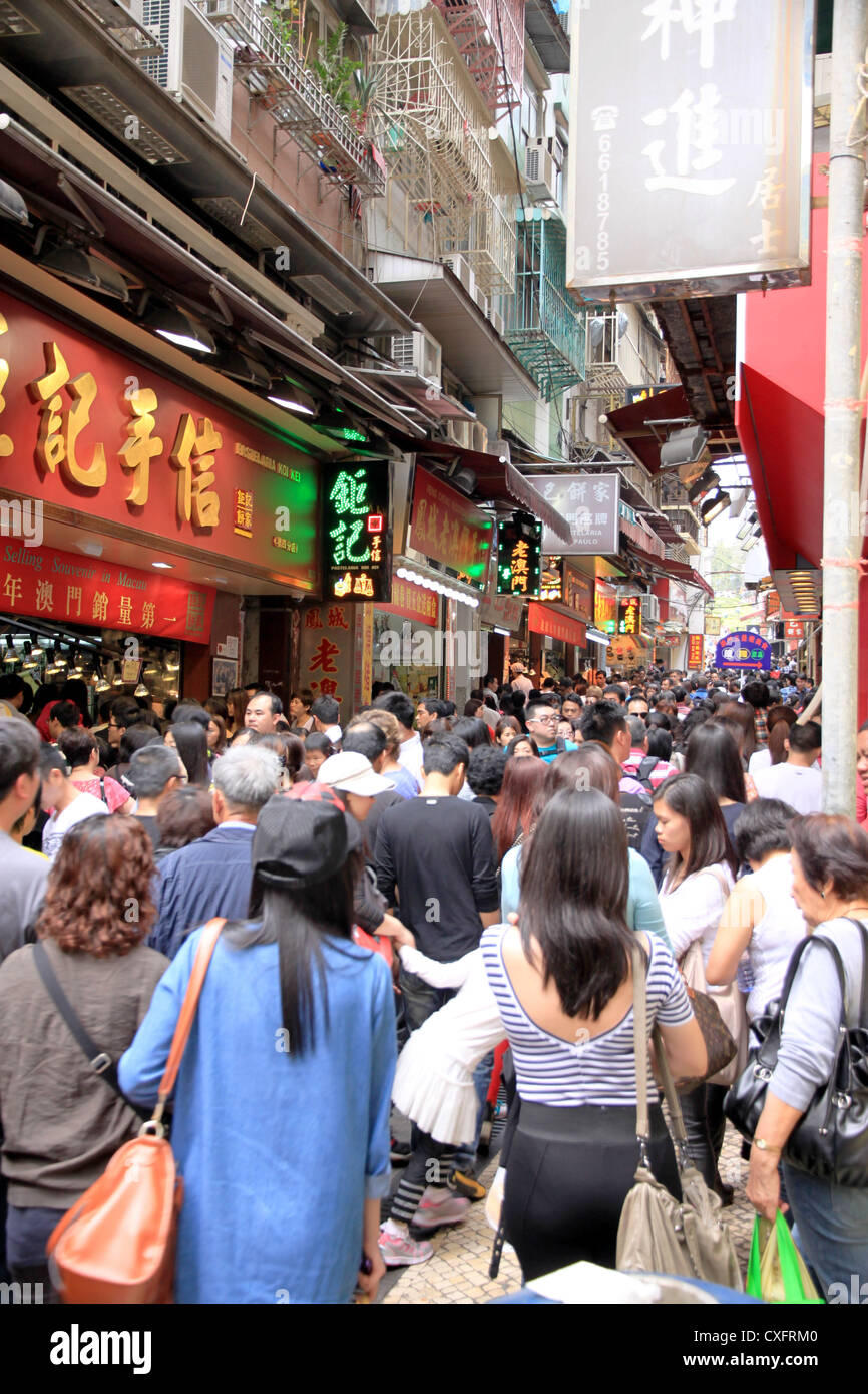 Macau Busy Street - Stock Image