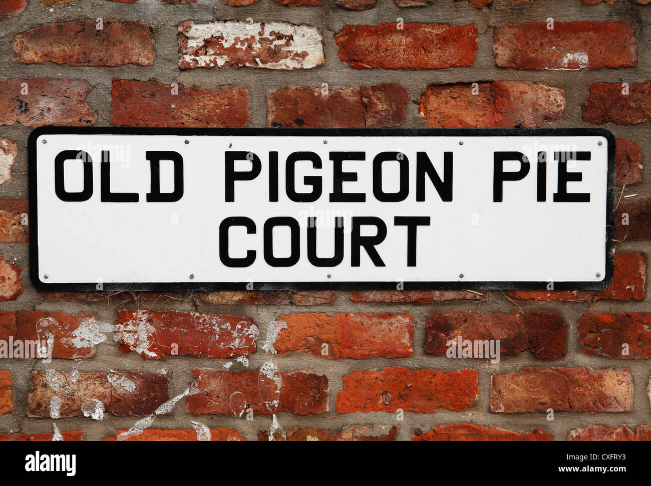 An unusual place name. Old Pigeon Pie Court, East Riding, England, U.K. - Stock Image