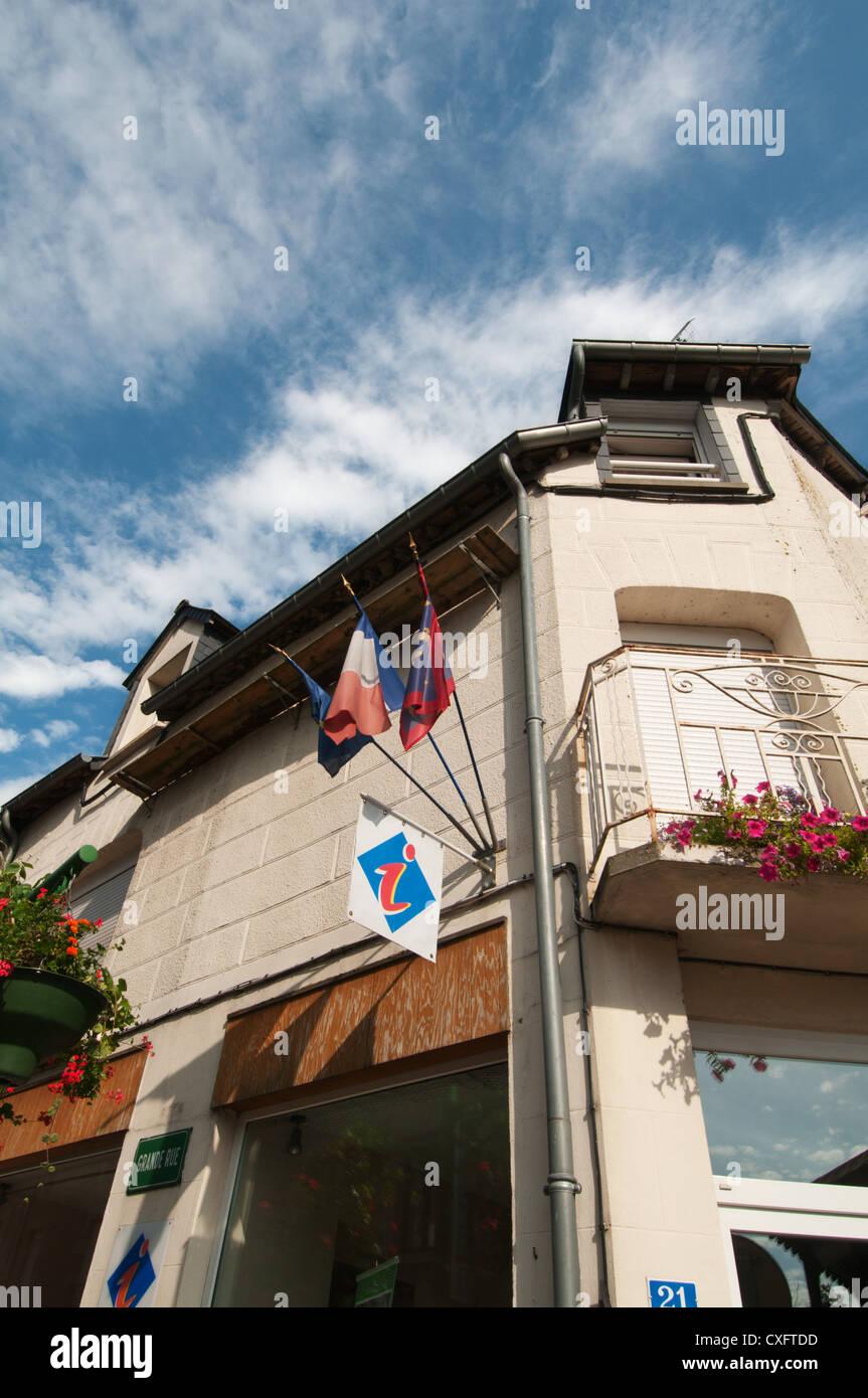 Tourist information office at Saint-Pierre-des-Nids, Mayene, Pays de la Loire, France. - Stock Image