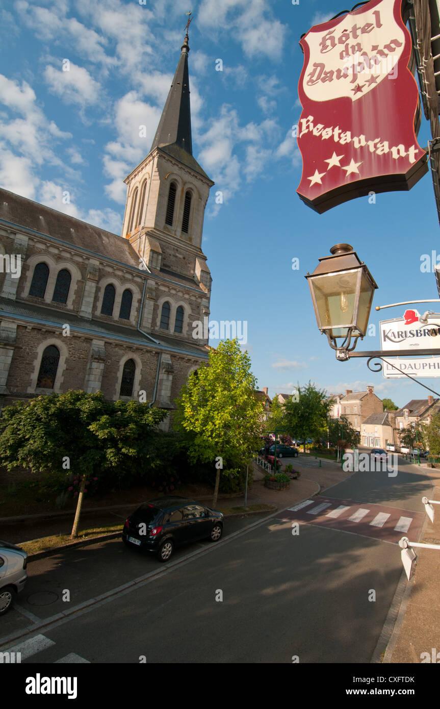 Saint-Pierre-des-Nids, Mayenne, Pays de la Loire, France. Europe. - Stock Image