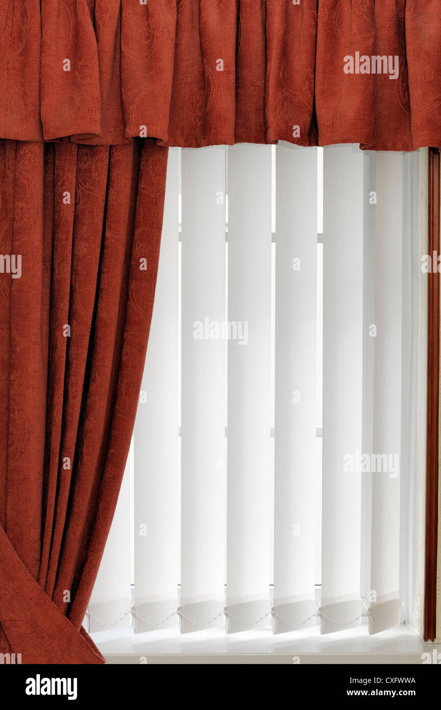 fabric white post vertical blinds kobe blind box by