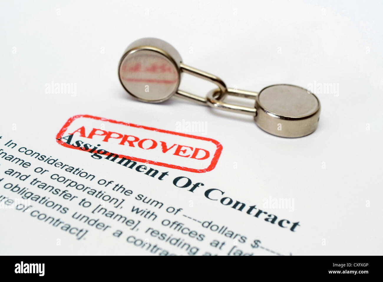 Assignment of contract approved Stock Photo: 50751926 - Alamy