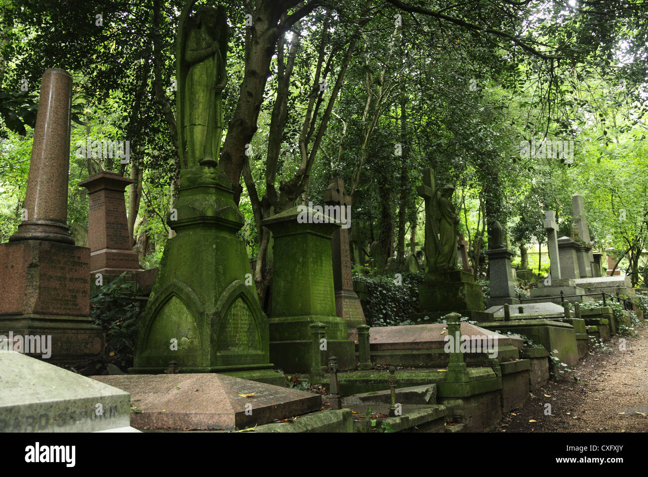 Highgate Cemetery West in London England - Stock Image