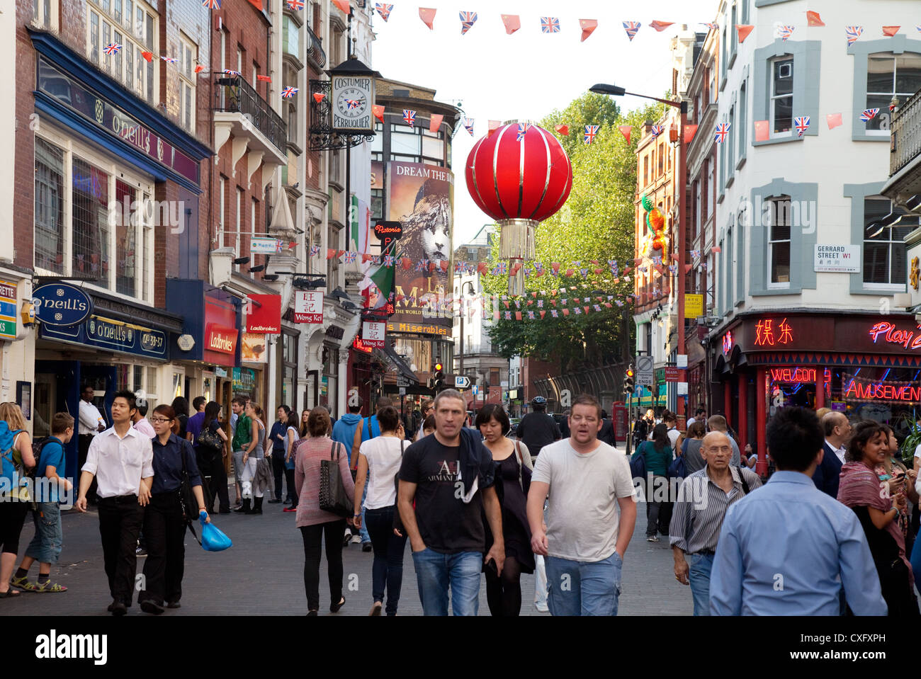 Wardour Street scene, Chinatown London W1 UK Europe Stock Photo