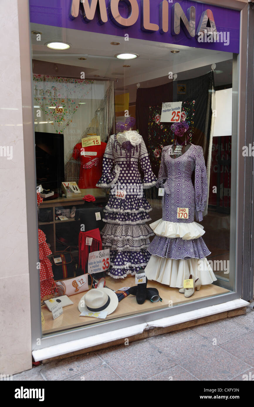 9472929d84d76 Molina flamenco dress shop in the back streets of the Macarena district of Seville  Spain -