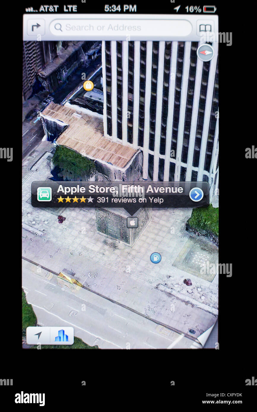 Apple Store Gl Cube on a Fifth Ave shown in Maps app on ... on communication app, fireplace app, media app, medical app, radio app, education app, cell phone app,