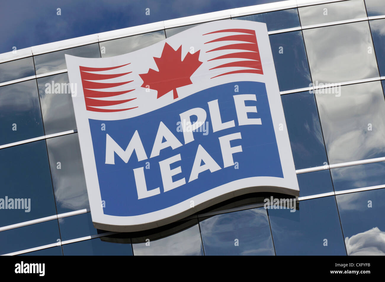 Maple Leaf Foods, Logo - Stock Image