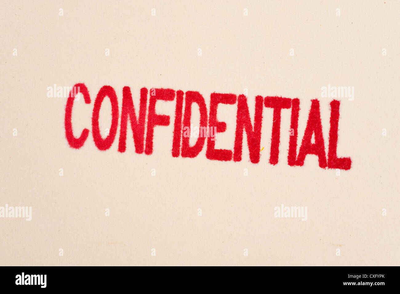Red Confidential Stamp Stock Photo 50752875