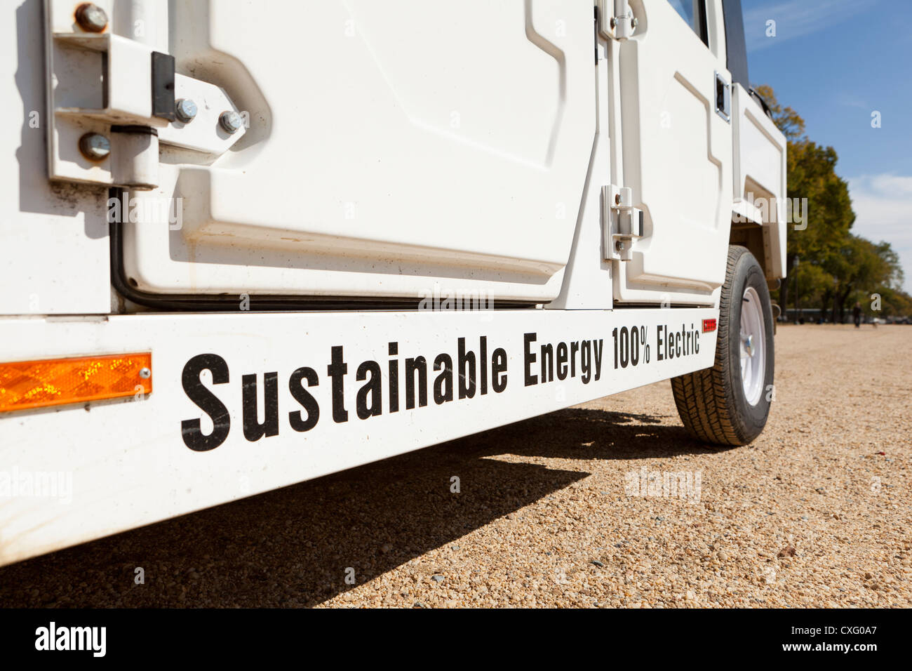 US Government electric utility car - Washington, DC USA - Stock Image