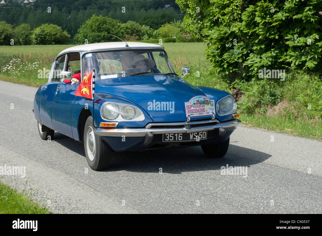 Citroen ID 19 of 1973 in the Tour de Bretagne, France, 2012 - Stock Image