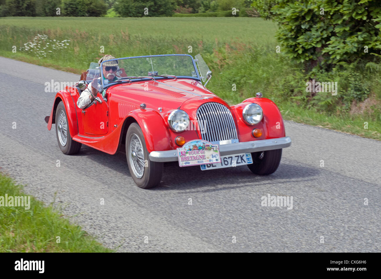 Tour Of 1981 Stock Photos Images Alamy Motorheads Performance Classic Car News Wiring Nightmares Can Be Morgan 4 Cabriolet In The De Bretagne France 2012