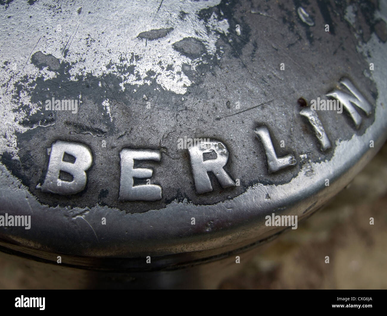 Scuffed Berlin logo - Stock Image