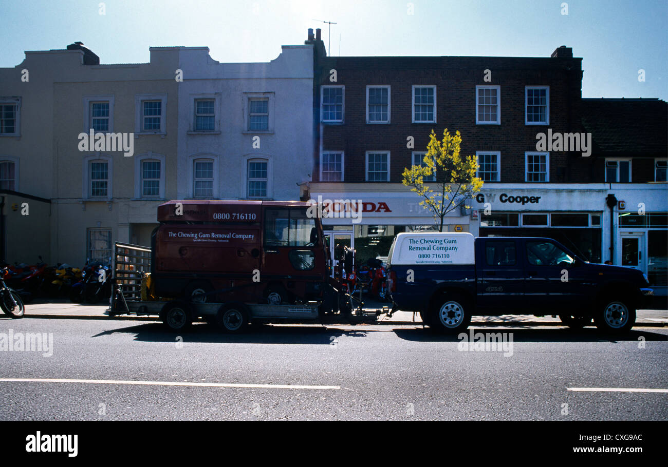 Chewing Gum Removal Company Surbiton Surrey England   Stock Image