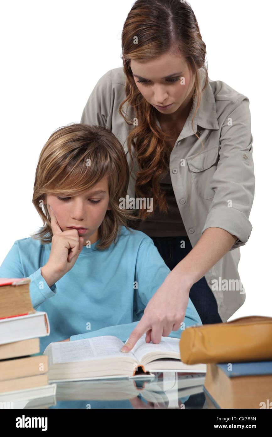 School teacher with - Stock Image