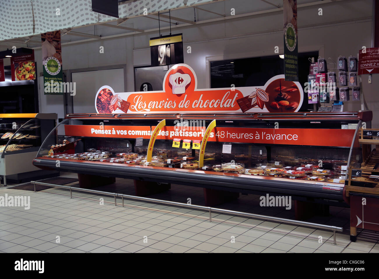 Calais France Cite Europe Carrefour Supermarket Cakes In Patisserie
